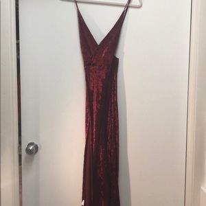 Dresses & Skirts - Sexy red velvet dress